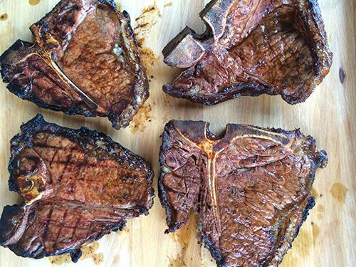 T-bone steak   grill
